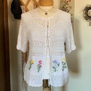 Vintage Crochet Cardigan